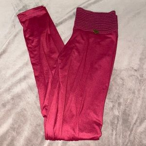 NWOT Dark Red Cute Booty Lounge Leggings